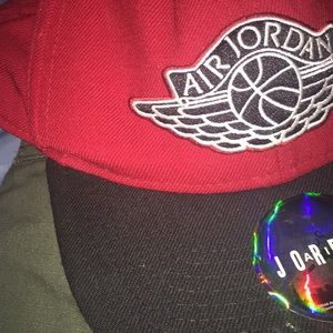 Air Jordan SnapBack Red/Black One sz fits all